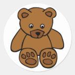 Brown Teddy Bear Classic Round Sticker