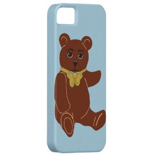 Brown Teddy Bear Light Blue iPhone 5/5s Case