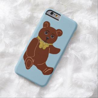 Brown Teddy Bear Light Blue iPhone 6 Case
