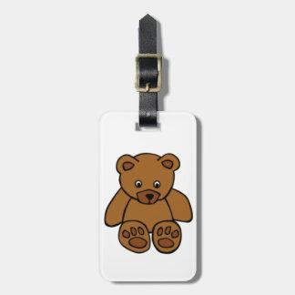 Brown Teddy Bear Bag Tags