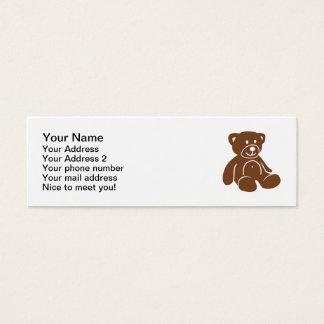 Brown teddy bear mini business card