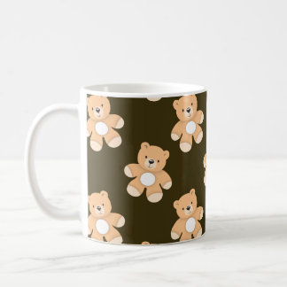 Brown Teddy Bear Pattern Mug