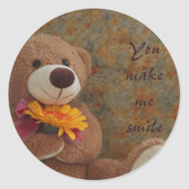 Brown Teddy Bear Sticker