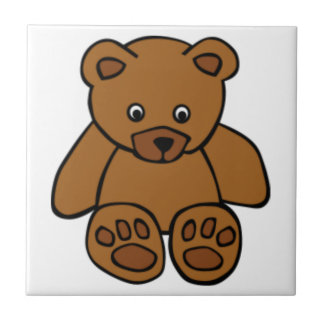Brown Teddy Bear Small Square Tile