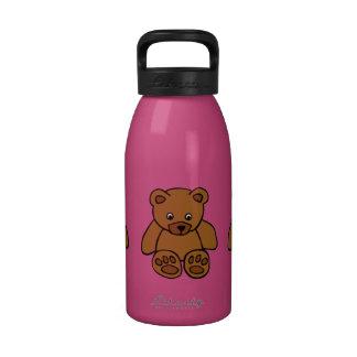 Brown Teddy Bear Water Bottles