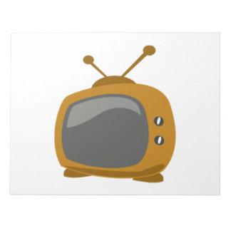 Brown Television Memo Pad