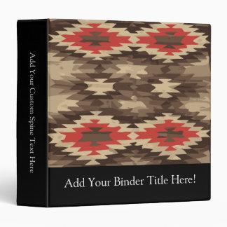 Brown/Terra Cotta Navajo Pattern 3 Ring Binder