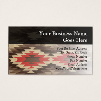Brown/Terra Cotta Navajo Pattern Business Card