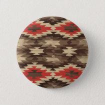 Brown/Terra Cotta Navajo Pattern Button