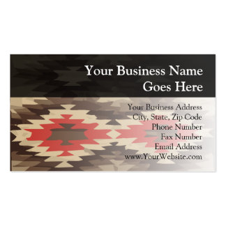 Brown/Terra Cotta Navajo Pattern Double-Sided Standard Business Cards (Pack Of 100)