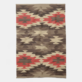 Brown/Terra Cotta Navajo Pattern Kitchen Towel
