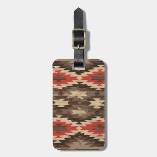 Brown/Terra Cotta Navajo Pattern Luggage Tag