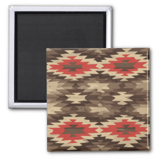 Brown/Terra Cotta Navajo Pattern Magnet