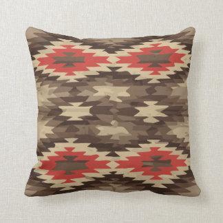 Brown/Terra Cotta Navajo Pattern Pillow