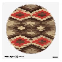 Brown/Terra Cotta Navajo Pattern Wall Sticker