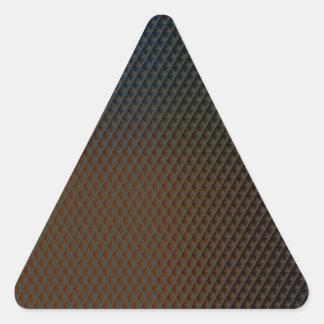 Brown Texture Triangle Sticker