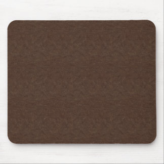 Brown Textured Leather Mouse Pad
