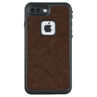 Brown Textured Leather Pattern LifeProof FRĒ iPhone 7 Plus Case