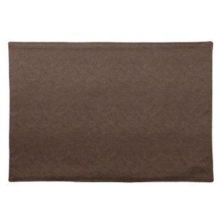 Brown texturizó el cuero manteles