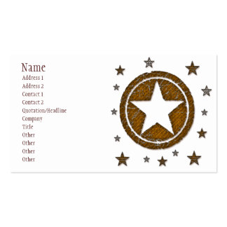 Brown texturizó la tarjeta de visita occidental de