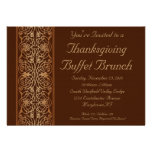 Brown Thanksgiving Dinner or Buffet Invitations