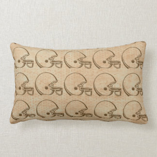 Brown theme football helmet pillow