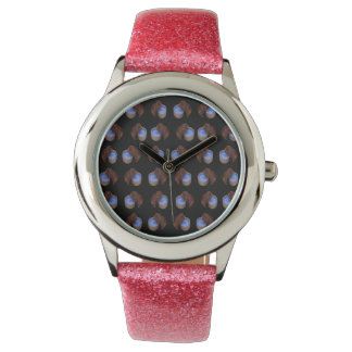 Brown_Thirsty_Guinea_Pig,_Girls_Pink_Glitter_Watch Wristwatch