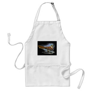 BROWN THRASHER in Color Pencil: Art Adult Apron