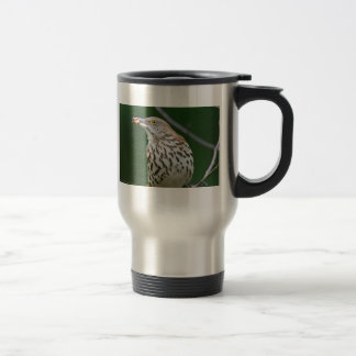 Brown Thrasher w/ Catch Of the Day Gifts Apparel Travel Mug
