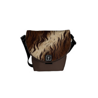 Brown Tiger Print Messenger Bag