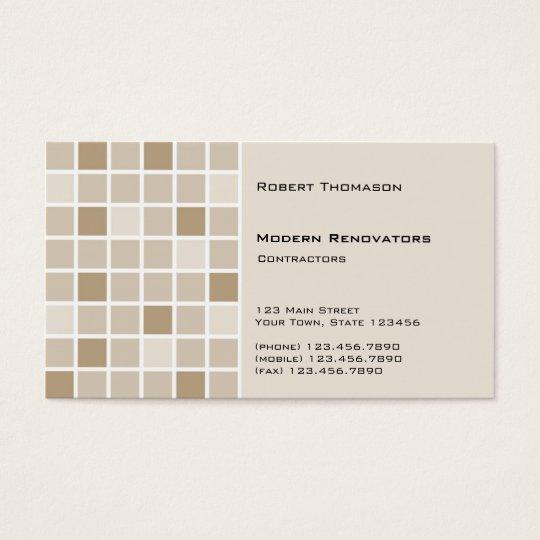 Brown Tile Business Card Zazzlecom