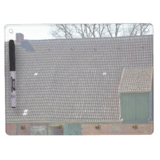 Brown Tile Roofing Of Brick House Dry-Erase Whiteboards