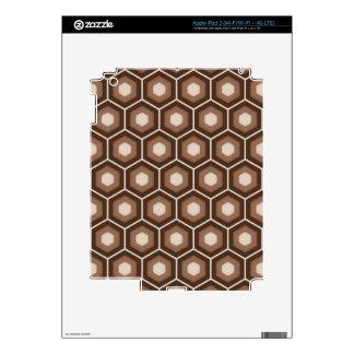 Brown Tiled Hex Tablet Skin iPad 3 Skin
