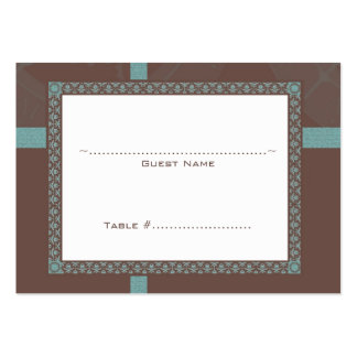 Brown Time Medallion Wedding Seating Card Large Business Cards (Pack Of 100)