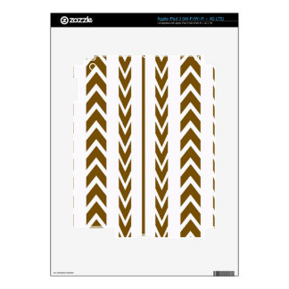Brown Tire Tread Decals For iPad 3