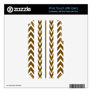 Brown Tire Tread iPod Touch 4G Skins