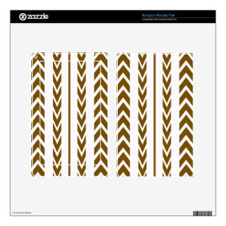 Brown Tire Tread Kindle Fire Decal