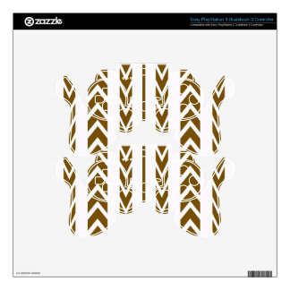 Brown Tire Tread PS3 Controller Decals