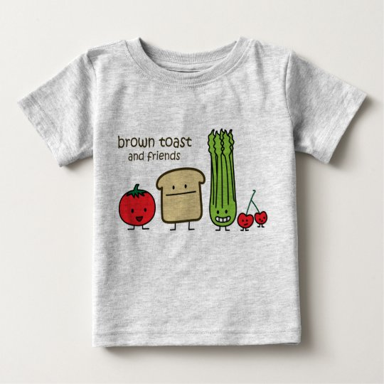 Brown Toast and Friends Baby T-Shirt