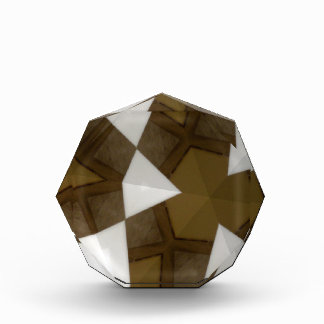 Brown Tone Geometric Pattern Acrylic Award