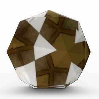 Brown Tone Geometric Pattern Award