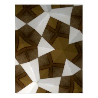 Brown Tone Geometric Pattern Postcard