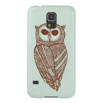 Brown Tones Line Drawing Owl Galaxy S5 Cover