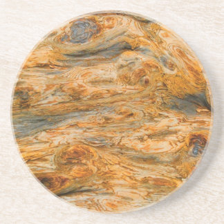 Brown Tones Natural Tree Bark Pattern Texture Beverage Coasters