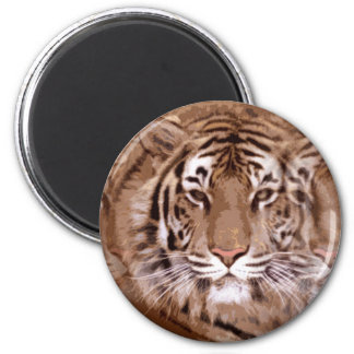 Brown Tones Tiger Face Magnet