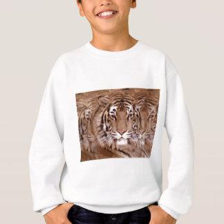Brown Tones Tiger Face Sweatshirt