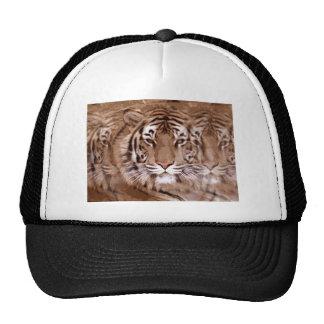 Brown Tones Tiger Face Trucker Hat