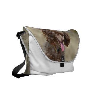 Brown Toy Poodle Messenger Bag