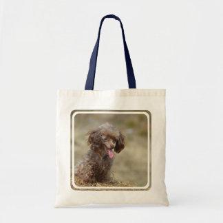 Brown Toy Poodle Tote Bag