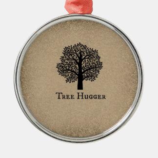 Brown Tree Hugger Christmas Tree Ornament